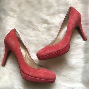 NWOT MARC FISHER Sydney Coral Suede Pumps